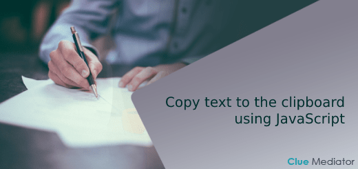 How to copy text to the clipboard using JavaScript - Clue Mediator