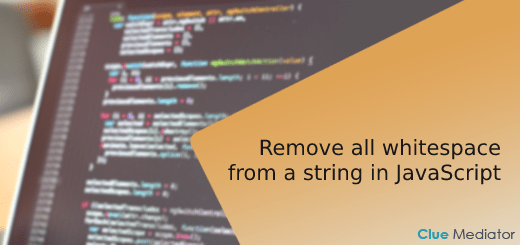 Remove all whitespace from a string in JavaScript - Clue Mediator