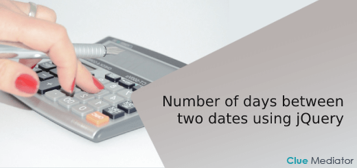Get the number of days between two dates using jQuery - Clue Mediator