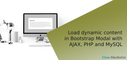 Load dynamic content in Bootstrap Modal with AJAX, PHP and MySQL - Clue Mediator