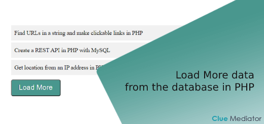 Load More data from the database using AJAX, jQuery in PHP with MySQL - Clue Mediator