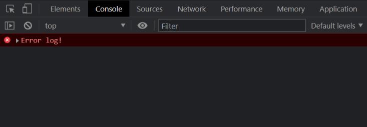 console.error() - Clue Mediator