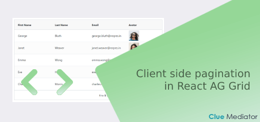 Implement client side pagination in React AG Grid - Clue Mediator