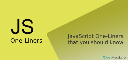 7 JavaScript One-Liners that you should know - Clue Mediator