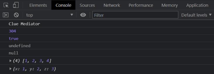 console.log() - Clue Mediator