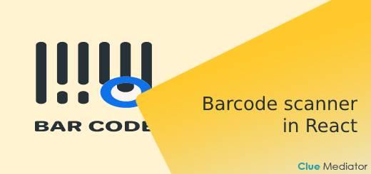 Barcode scanner in React - Clue Mediator