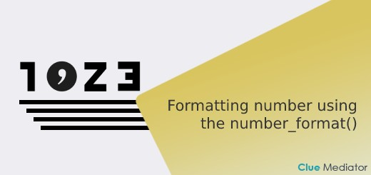 Formatting number using the number_format() function in PHP - Clue Mediator