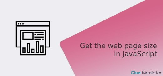 How to get the web page size in JavaScript - Clue Mediator