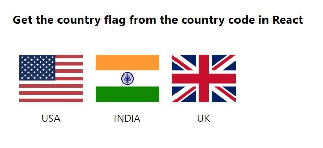 Get the country flag from the country code in React - Clue Mediator