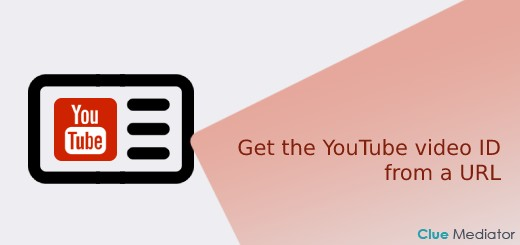 Get the YouTube video ID from a URL using JavaScript - Clue Mediator